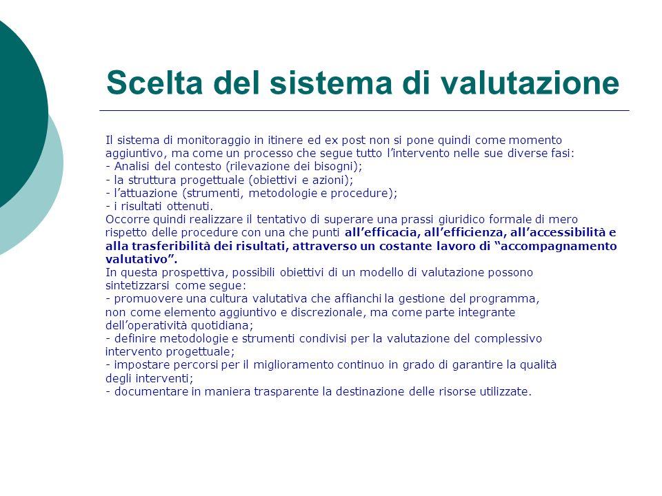 LIVELLI DELLA VALUTAZIONE Coerentemente con il modello teorico brevemente espresso, il lavoro di valutazione può svilupparsi lungo quattro livelli autonomi di analisi: _ Valutazione del processo progettuale.