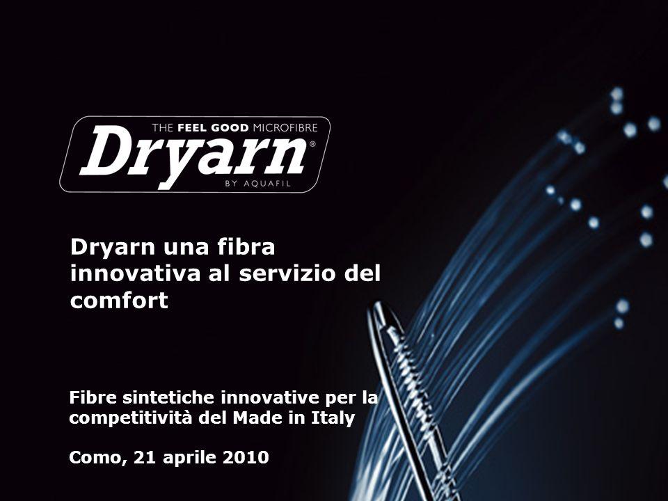 Pagina 1 Dryarn una fibra innovativa al servizio del comfort Fibre sintetiche innovative per la competitività del Made in Italy Como, 21 aprile 2010