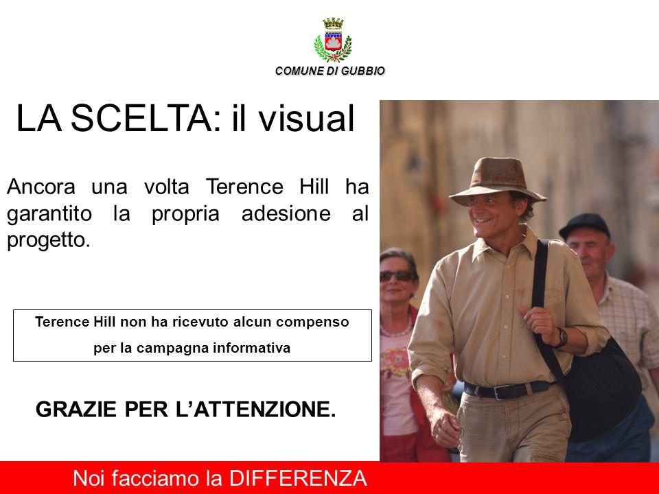 LA SCELTA: il visual Ancora una volta Terence Hill ha garantito la propria adesione al progetto. Terence Hill non ha ricevuto alcun compenso per la ca