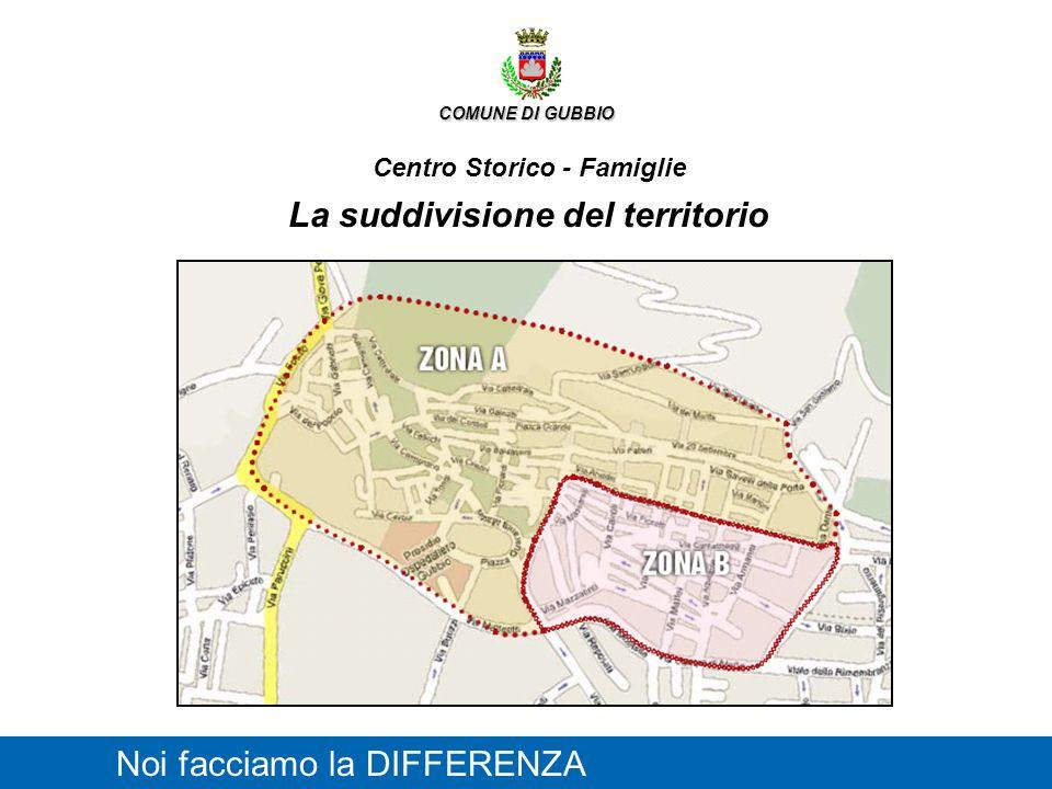 COMUNE DI GUBBIO Centro Storico - Famiglie La suddivisione del territorio