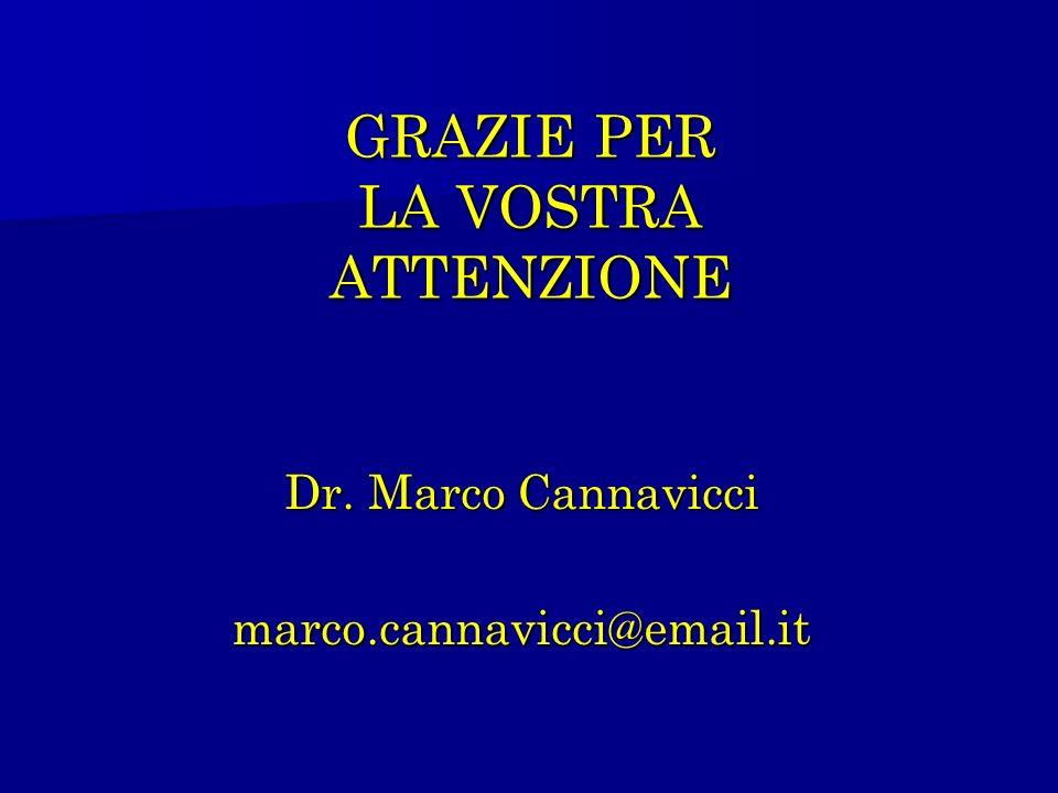 GRAZIE PER LA VOSTRA ATTENZIONE Dr. Marco Cannavicci marco.cannavicci@email.it