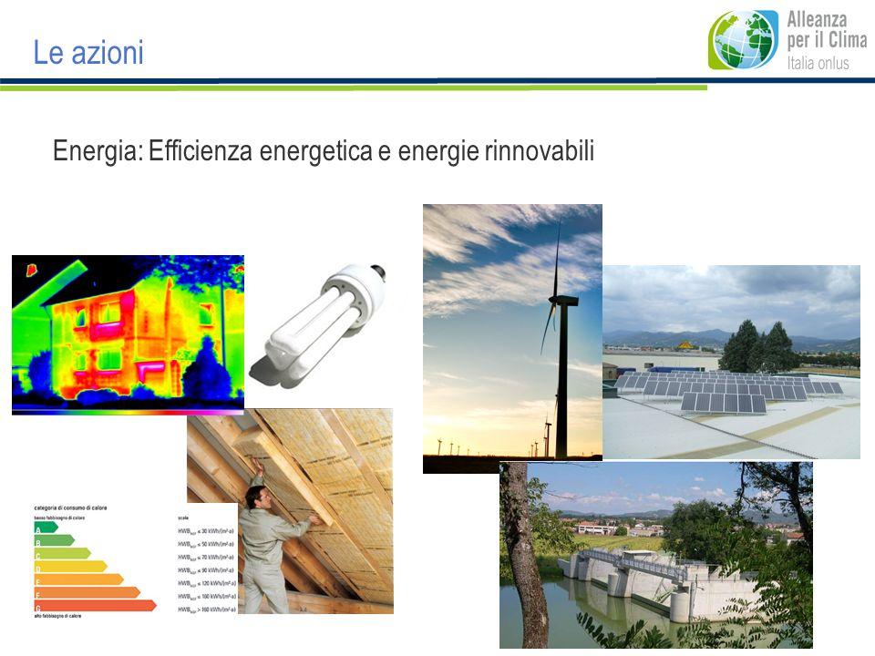 Energia: Efficienza energetica e energie rinnovabili Le azioni