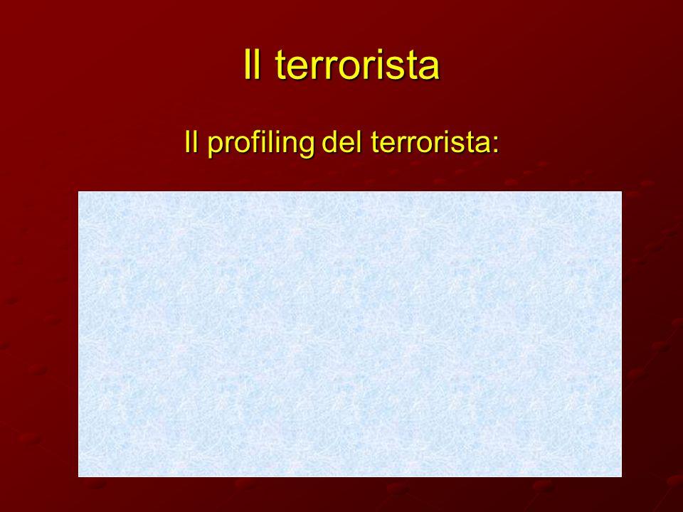 Il terrorista Il profiling del terrorista: