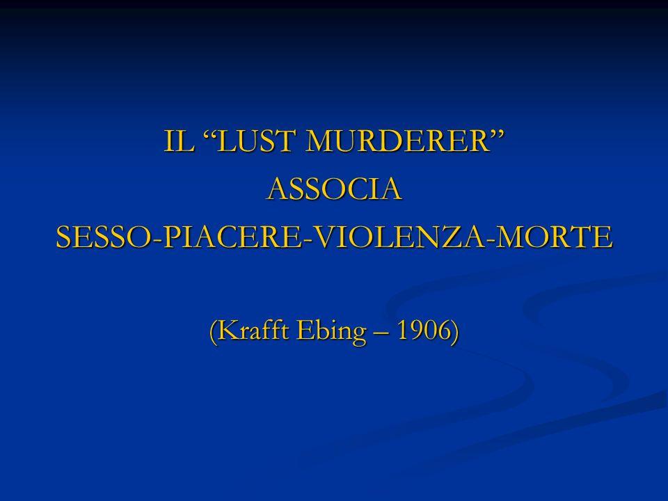 IL LUST MURDERER ASSOCIASESSO-PIACERE-VIOLENZA-MORTE (Krafft Ebing – 1906)