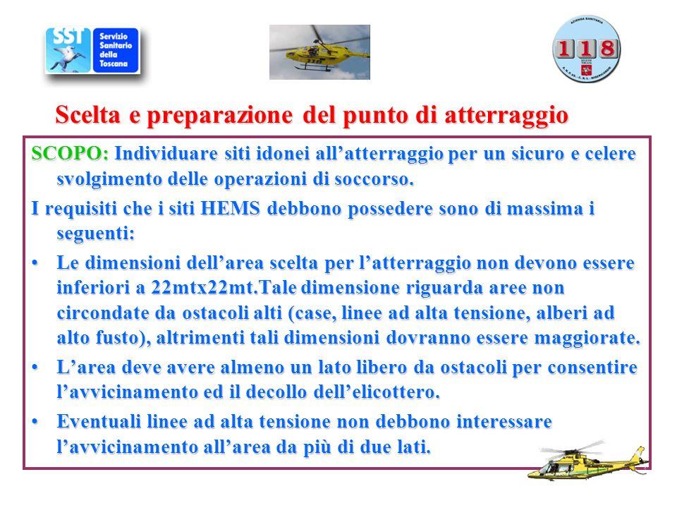 Scelta e preparazione del punto di atterraggio SCOPO: Individuare siti idonei allatterraggio per un sicuro e celere svolgimento delle operazioni di so