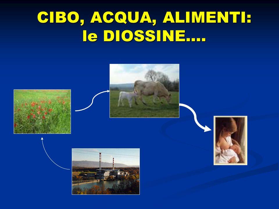 CIBO, ACQUA, ALIMENTI: le DIOSSINE….