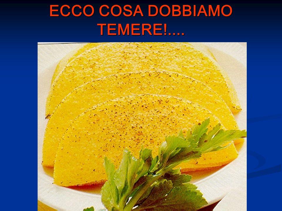 ECCO COSA DOBBIAMO TEMERE!....