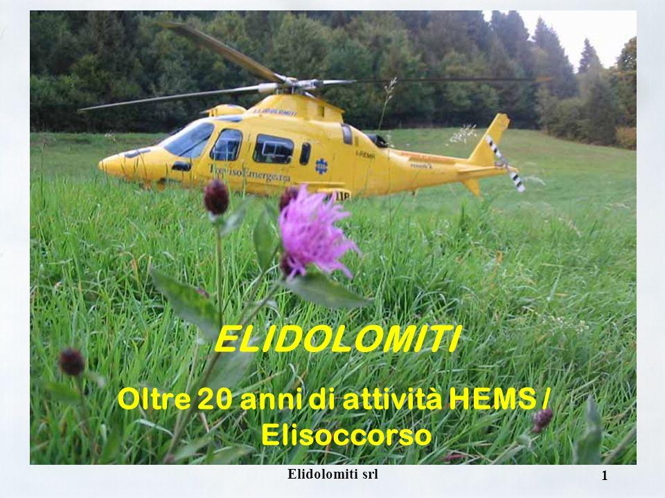 1 ELIDOLOMITI Oltre 20 anni di attività HEMS / Elisoccorso
