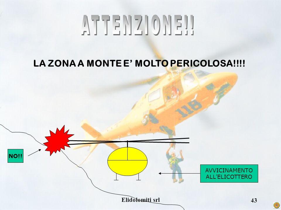 Elidolomiti srl 42 PERICOLO!! IN FASE DI AVVICINAMENTO NON SOLLEVARE OGGETTI LUNGHI NON AGITARE OGGETTI COME CORDE O FAZZOLETTI