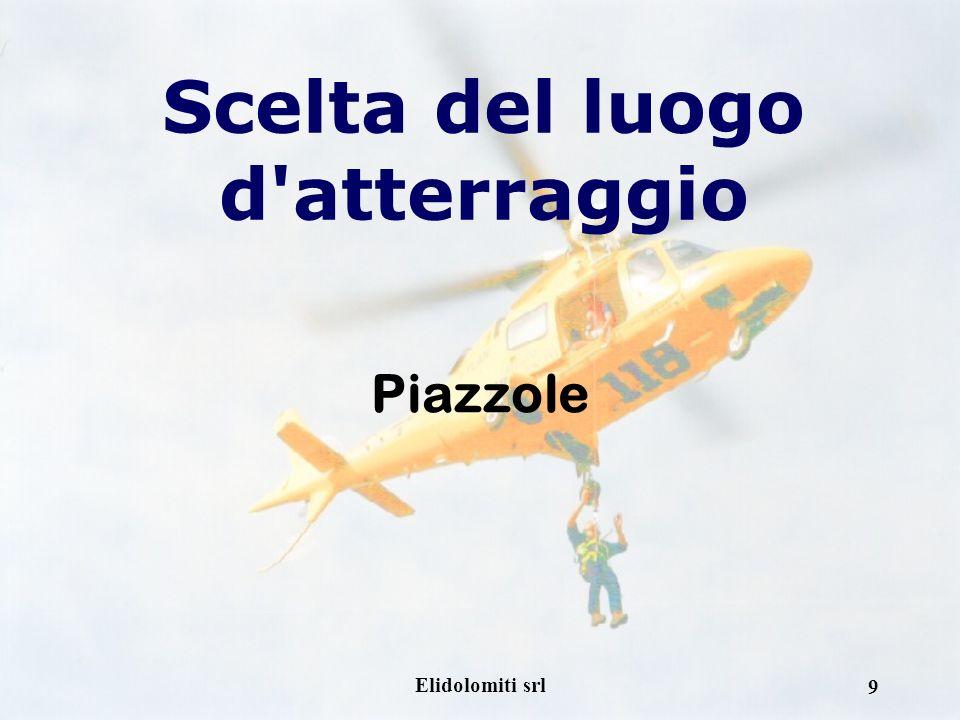 Elidolomiti srl 9 Scelta del luogo d atterraggio Piazzole