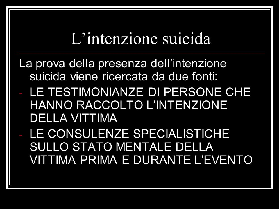 Suicidio.Incidente. Omicidio. IPOTESI: 1. SUICIDIO - CRISI DEPRESSIVA 2.