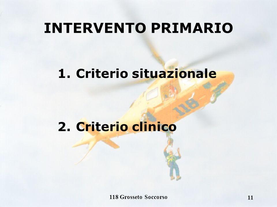 118 Grosseto Soccorso 10 Interventi secondari: Pazienti già riferiti ad un presidio ospedaliero di I, II o III livello - su richiesta del medico di re