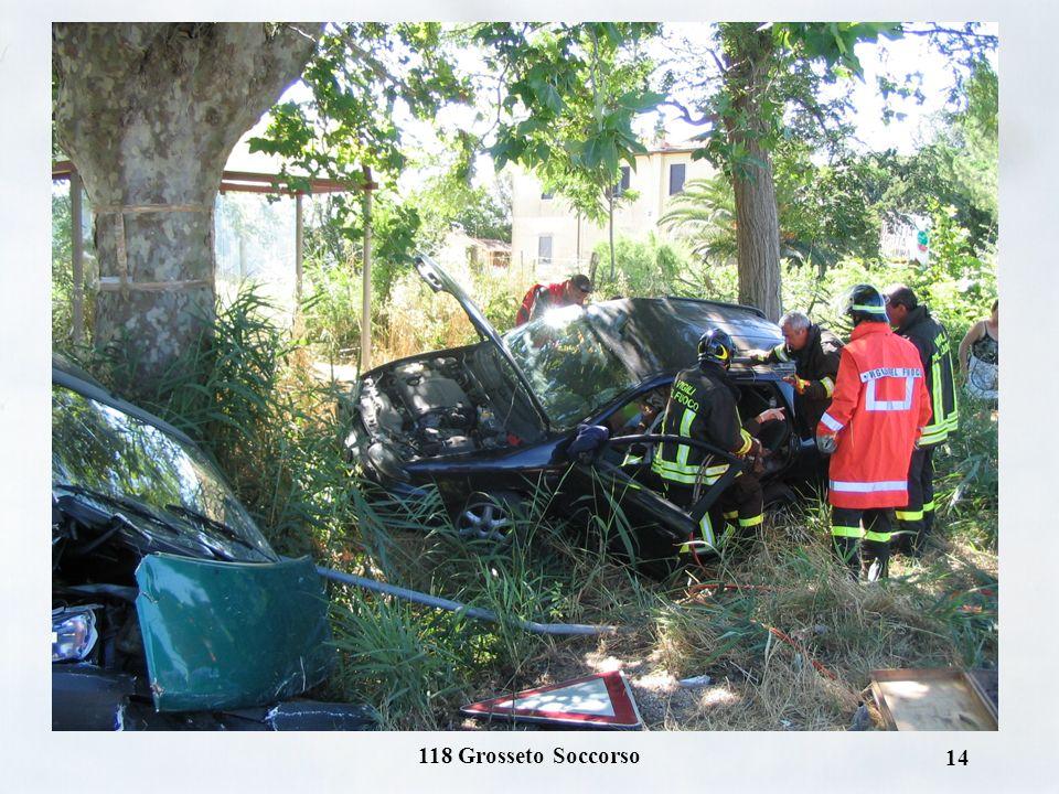 118 Grosseto Soccorso 13 Incidenti autostradali o su strada a scorrimento veloce con situazioni di traffico o di distanza dai P.E.T. sede di ambulanza