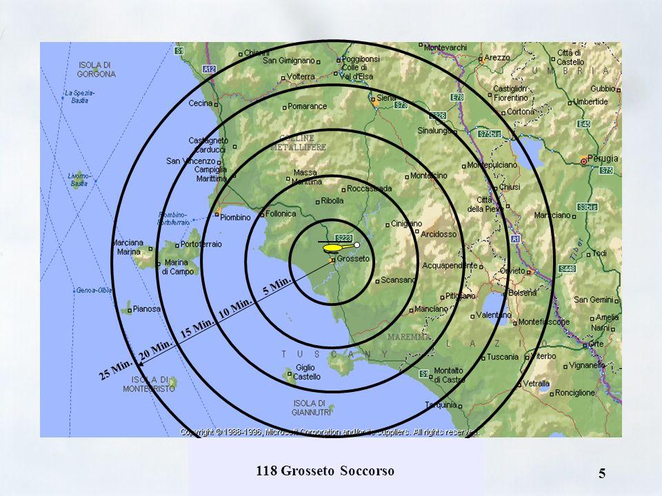 4 Raggio dazione provinciale (diurno) Copertura territoriale estesa fino ad un massimo di 20 minuti corrispondente a: –nord Cecina –est Chiusi / Siena