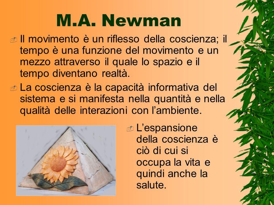 M.A. Newman Il movimento è un riflesso della coscienza; il tempo è una funzione del movimento e un mezzo attraverso il quale lo spazio e il tempo dive
