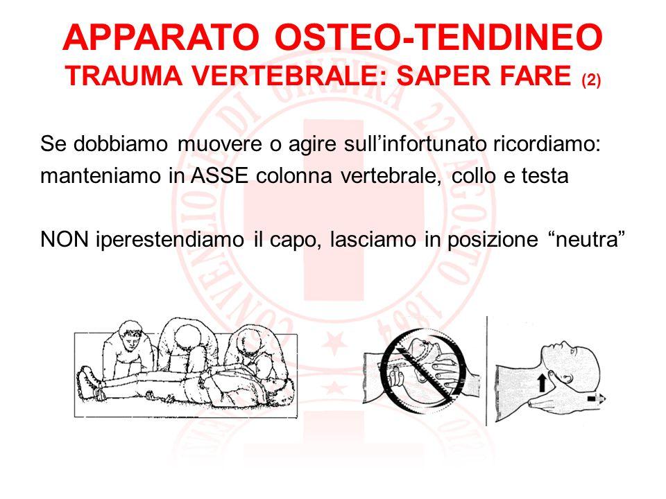 APPARATO OSTEO-TENDINEO TRAUMA VERTEBRALE : DOMANDE???