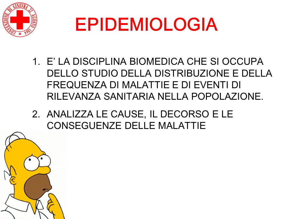 EPIDEMIOLOGIA 1.E LA DISCIPLINA BIOMEDICA CHE SI OCCUPA DELLO STUDIO DELLA DISTRIBUZIONE E DELLA FREQUENZA DI MALATTIE E DI EVENTI DI RILEVANZA SANITA