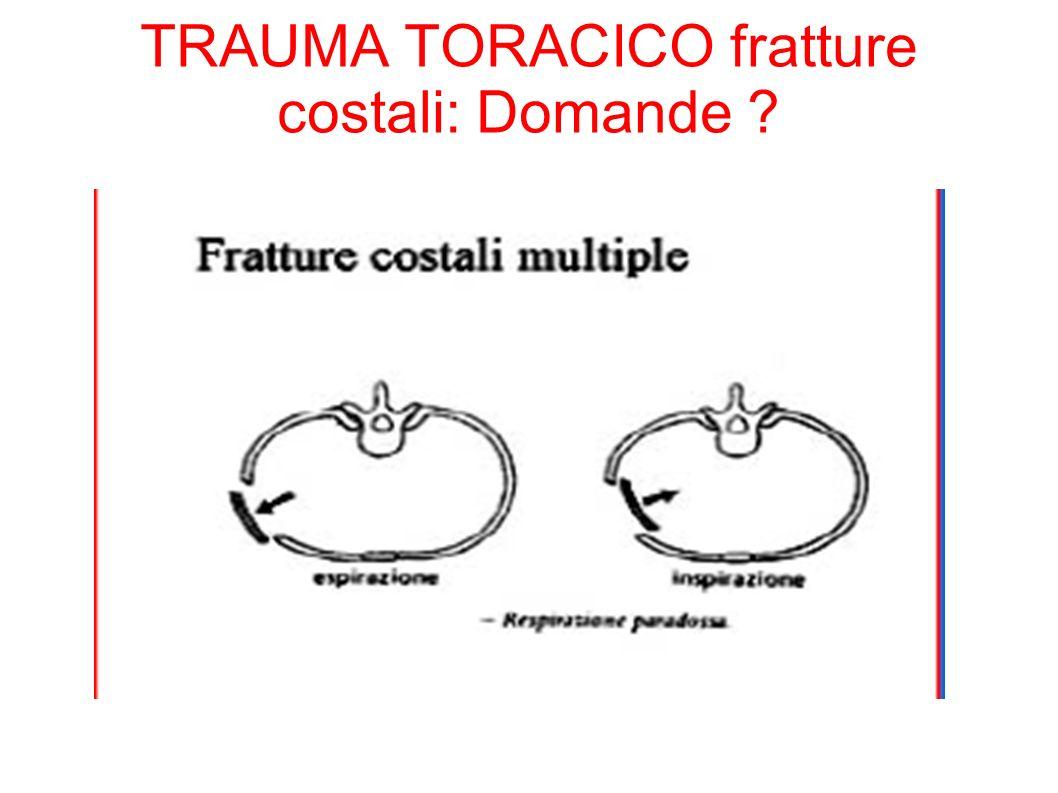 TRAUMA TORACICO fratture costali: Domande ?