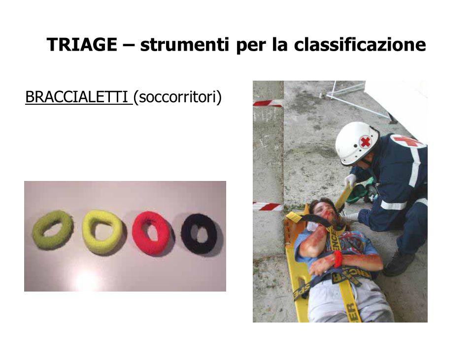 TRIAGE – strumenti per la classificazione BRACCIALETTI (soccorritori)