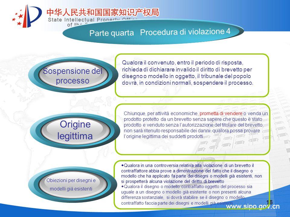 16 Chiunque, per attività economiche, prometta di vendere o venda un prodotto protetto da un brevetto senza sapere che questo è stato prodotto e vendu