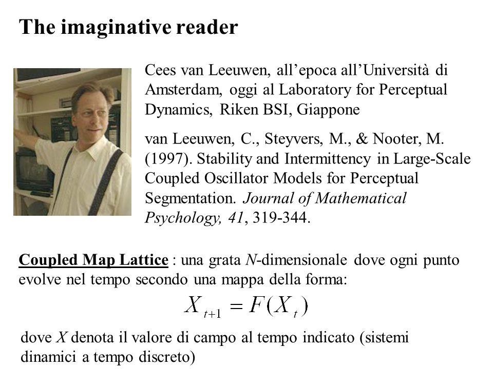 The imaginative reader Cees van Leeuwen, allepoca allUniversità di Amsterdam, oggi al Laboratory for Perceptual Dynamics, Riken BSI, Giappone van Leeu