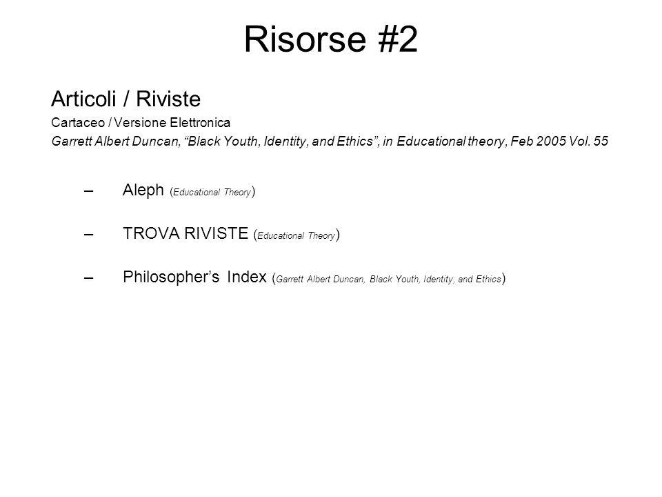 Risorse #3 3.1 Home Page dei Docenti Richard J.