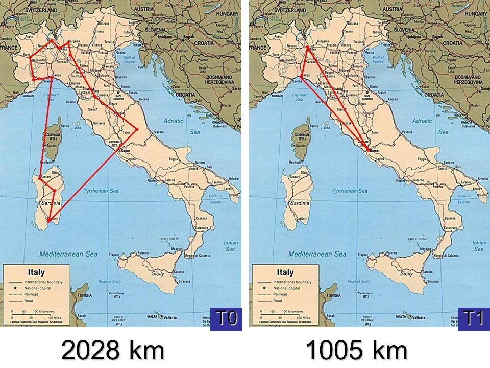 2028 km 1005 km T0 Seconda valutazione T1