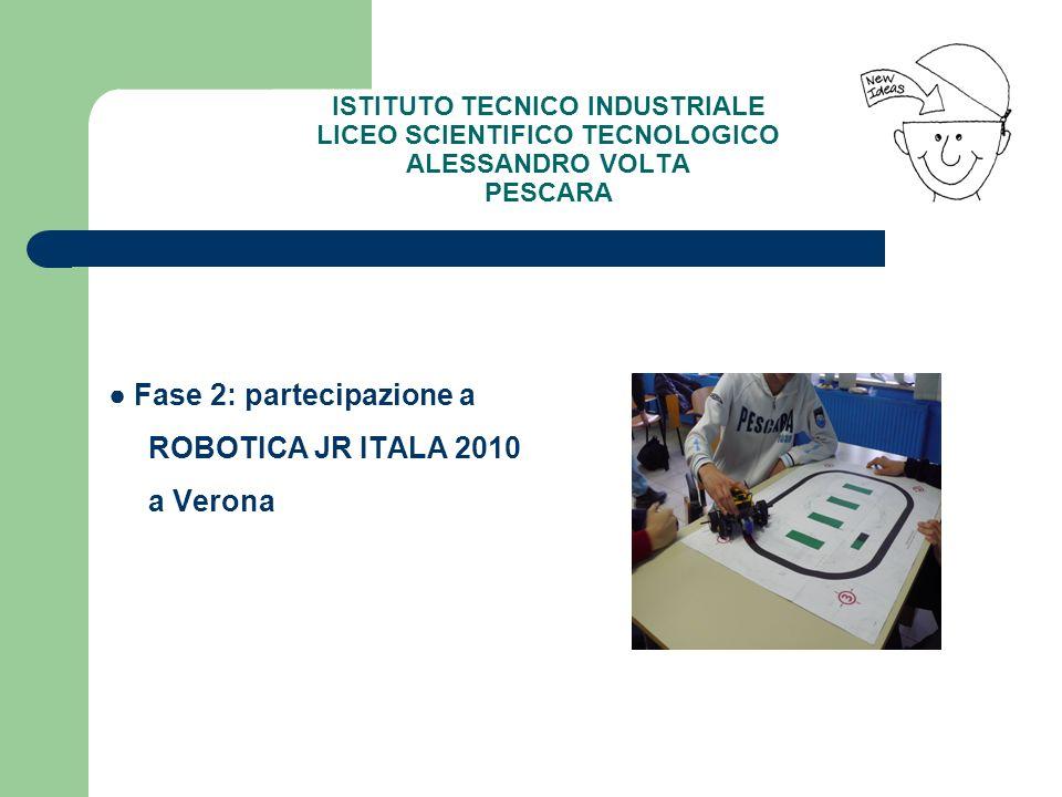 Fase 2: partecipazione a ROBOTICA JR ITALA 2010 a Verona