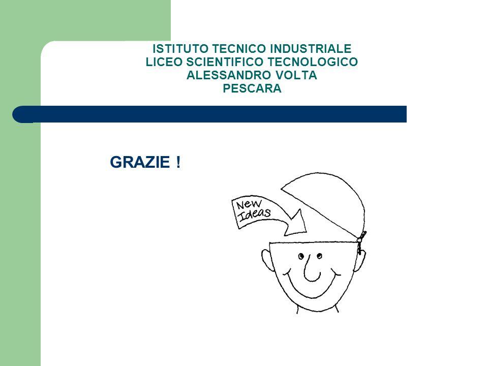 ISTITUTO TECNICO INDUSTRIALE LICEO SCIENTIFICO TECNOLOGICO ALESSANDRO VOLTA PESCARA GRAZIE !