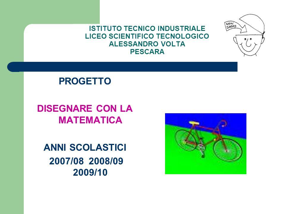 PROGETTO DISEGNARE CON LA MATEMATICA ANNI SCOLASTICI 2007/08 2008/09 2009/10
