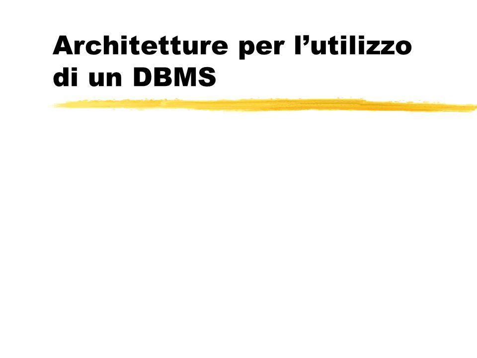 Architetture per lutilizzo di un DBMS