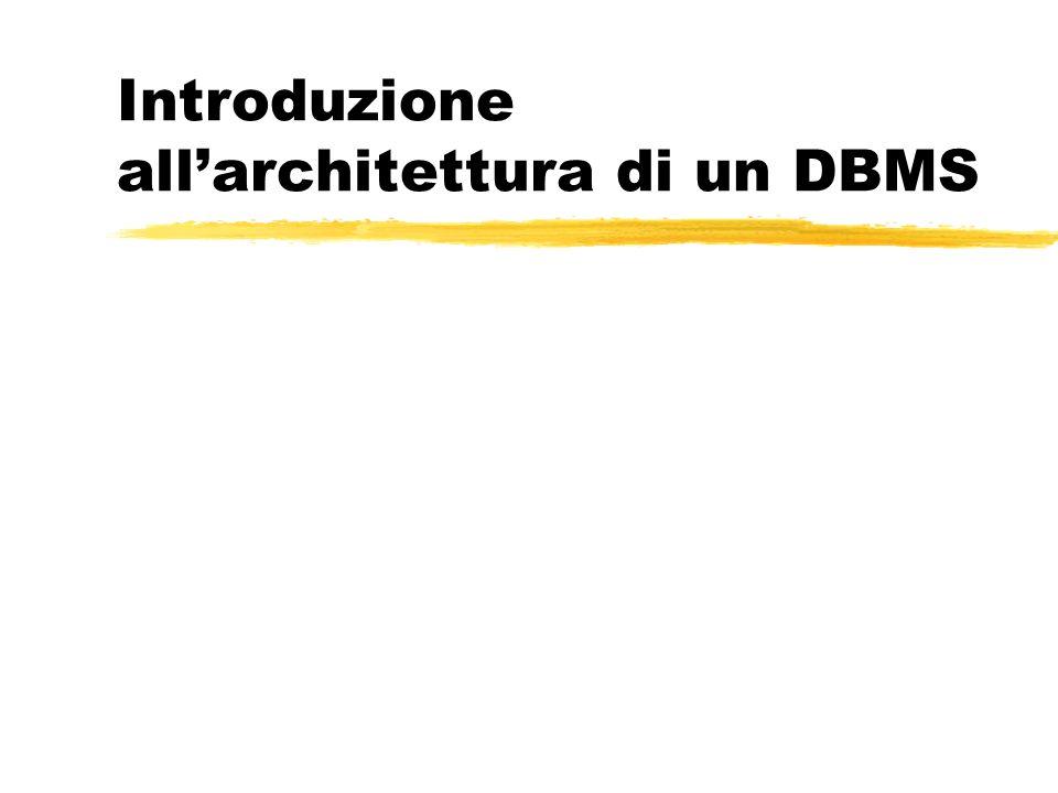 Introduzione allarchitettura di un DBMS