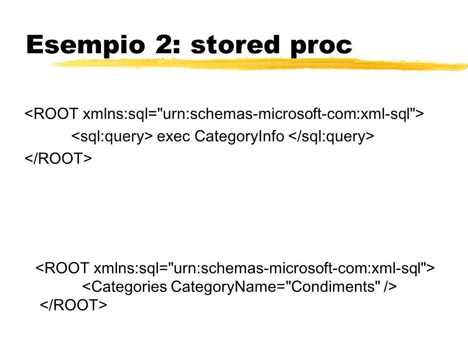 Esempio 2: stored proc exec CategoryInfo