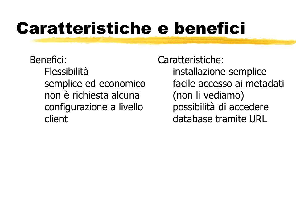 Caratteristiche e benefici Benefici: Flessibilità semplice ed economico non è richiesta alcuna configurazione a livello client Caratteristiche: instal