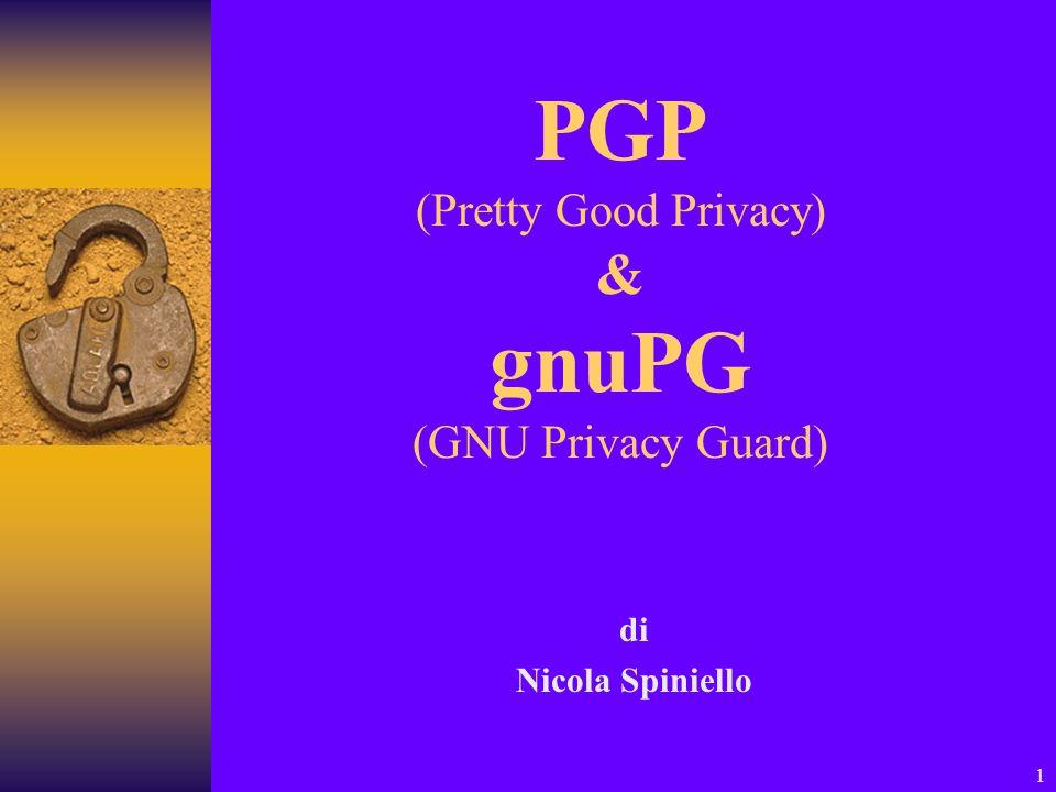 1 PGP (Pretty Good Privacy) & gnuPG (GNU Privacy Guard) di Nicola Spiniello
