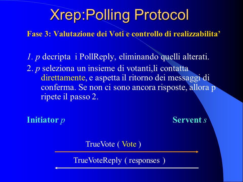 Xrep:Polling Protocol Fase 3: Valutazione dei Voti e controllo di realizzabilita 1.