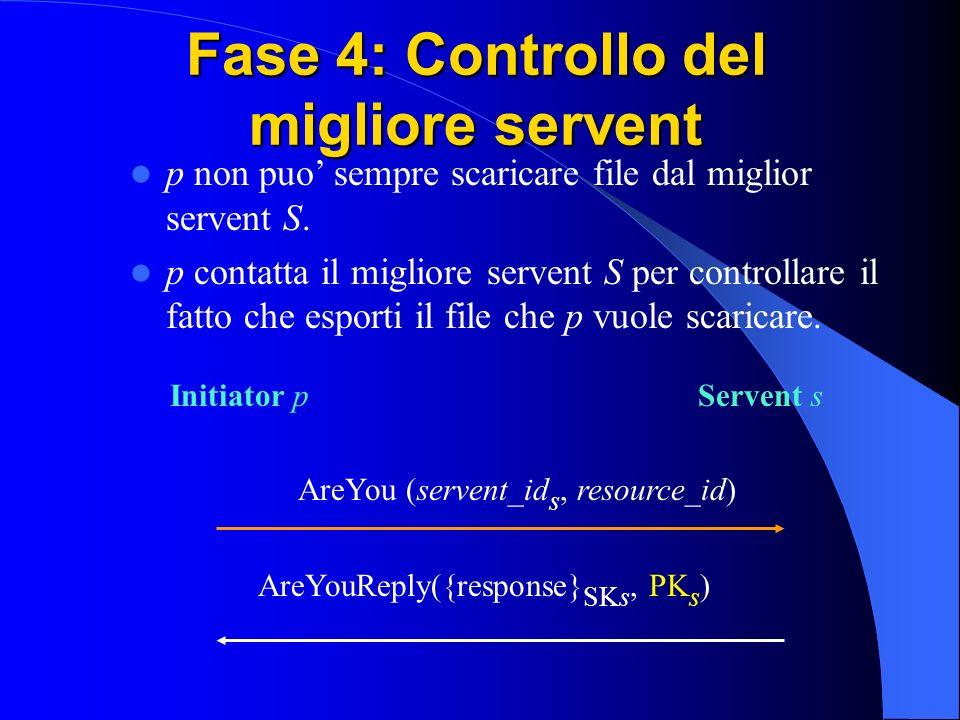 Fase 4: Controllo del migliore servent p non puo sempre scaricare file dal miglior servent S.