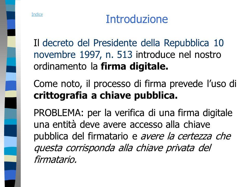 Introduzione Il decreto del Presidente della Repubblica 10 novembre 1997, n.
