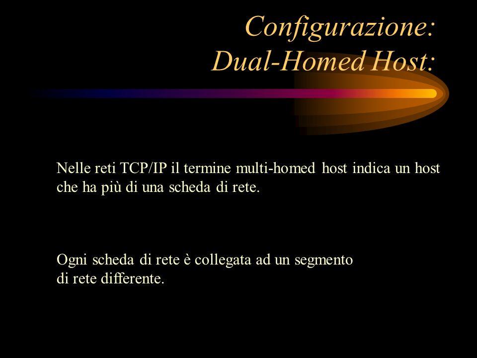 Ogni scheda di rete è collegata ad un segmento di rete differente. Nelle reti TCP/IP il termine multi-homed host indica un host che ha più di una sche