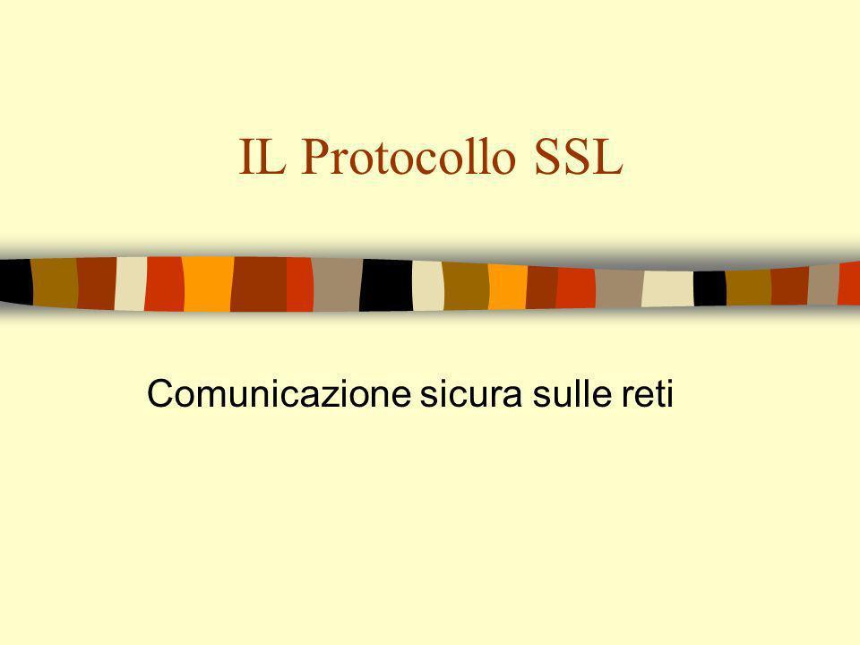 Comunicazione sicura n TCP/IP non fornisce meccanismi di sicurezza.