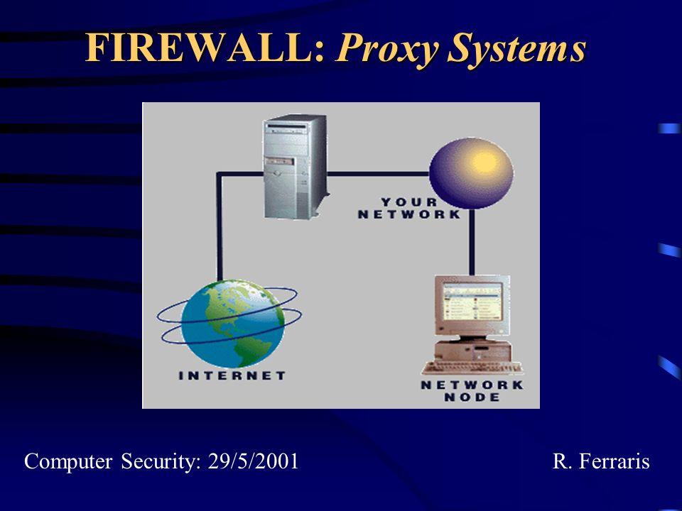 Che cosa vedremo Definizione dei proxy –Proxy application level –Proxy circuit level Software per firewall con proxy –TIS Firewall Toolkit –SOCKS –Confronto tra i due pacchetti Proxy con funzionalità di caching Anonimia nel WWW –Anonymizer