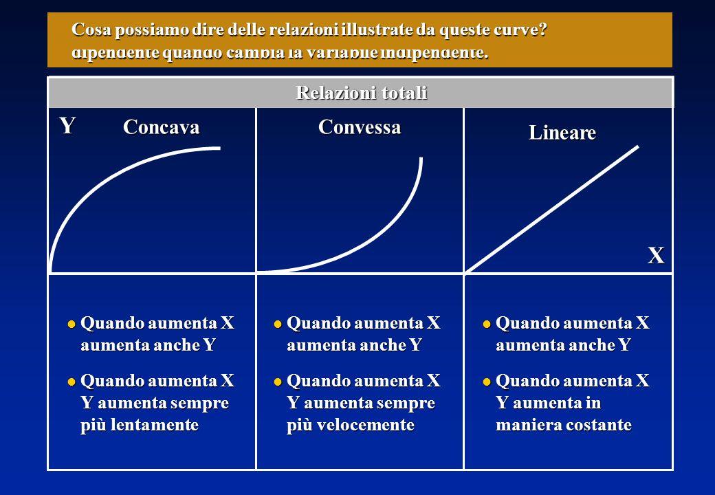 XY Vediamo di riassumere quanto abbiamo imparato Inoltre, ci informano sulla velocità alla quale aumenta la variabile dipendente quando cambia la variabile indipendente.