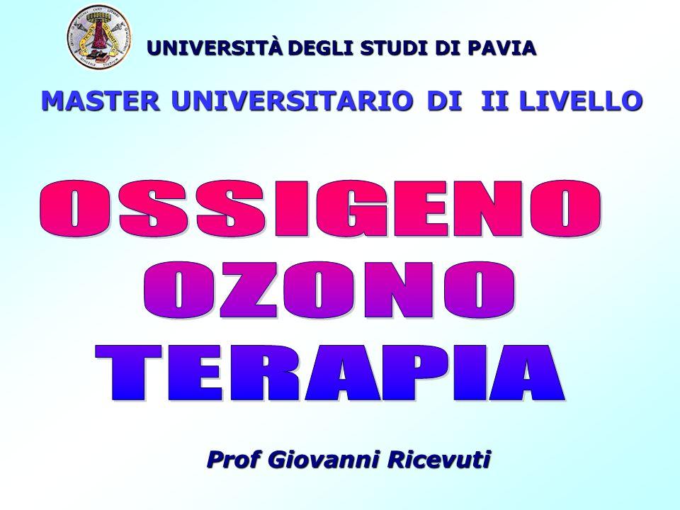 UNIVERSITÀ DEGLI STUDI DI PAVIA MASTER UNIVERSITARIO DI II LIVELLO Prof Giovanni Ricevuti