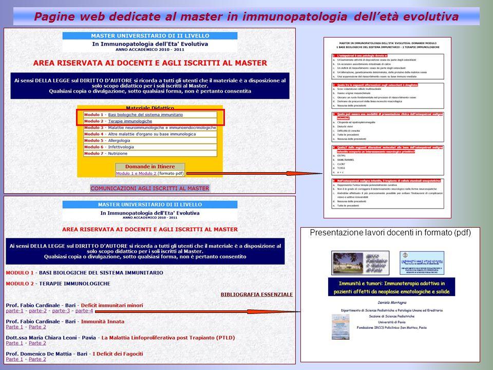 Presentazione lavori docenti in formato (pdf)