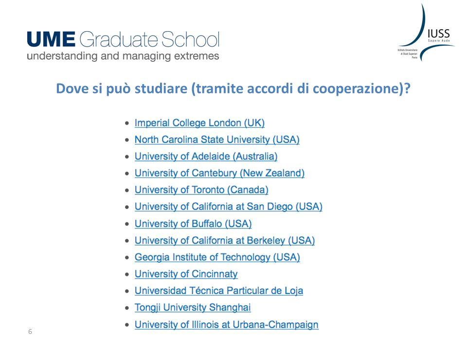 6 Dove si può studiare (tramite accordi di cooperazione)?