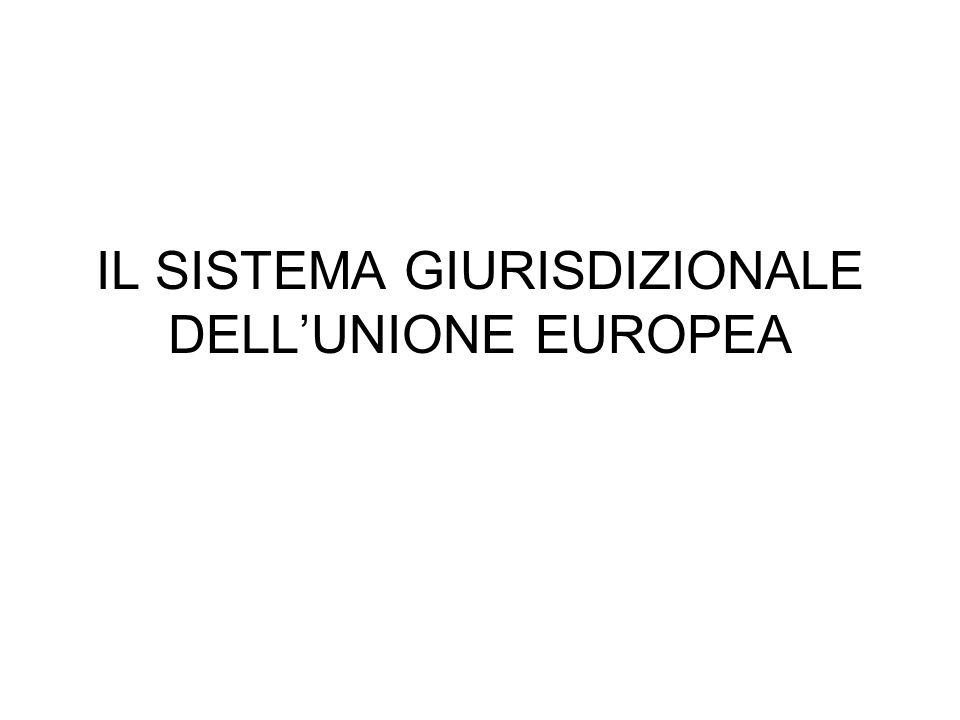 IL SISTEMA GIURISDIZIONALE DELLUNIONE EUROPEA