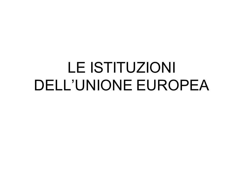 LE ISTITUZIONI DELLUNIONE EUROPEA