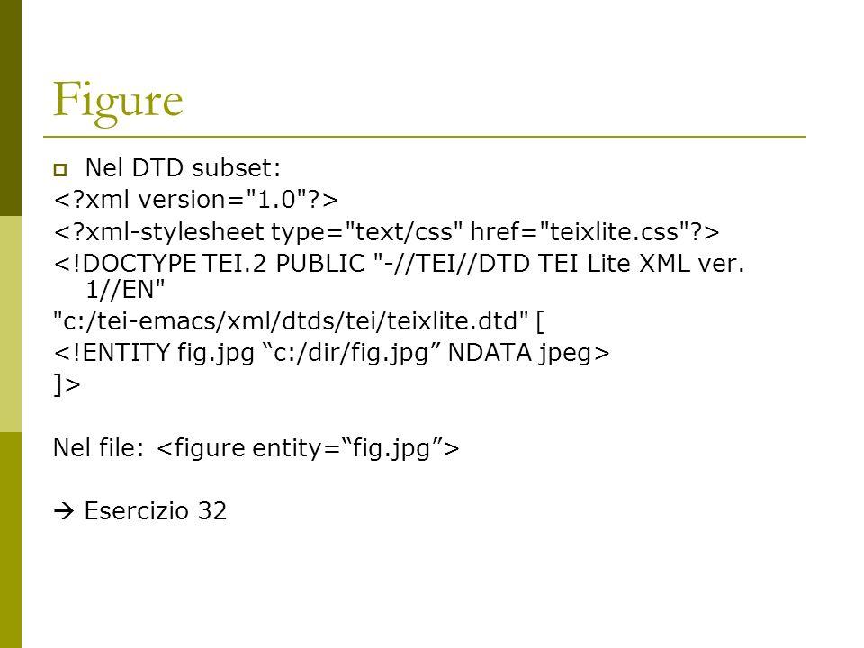 Figure Nel DTD subset: <!DOCTYPE TEI.2 PUBLIC