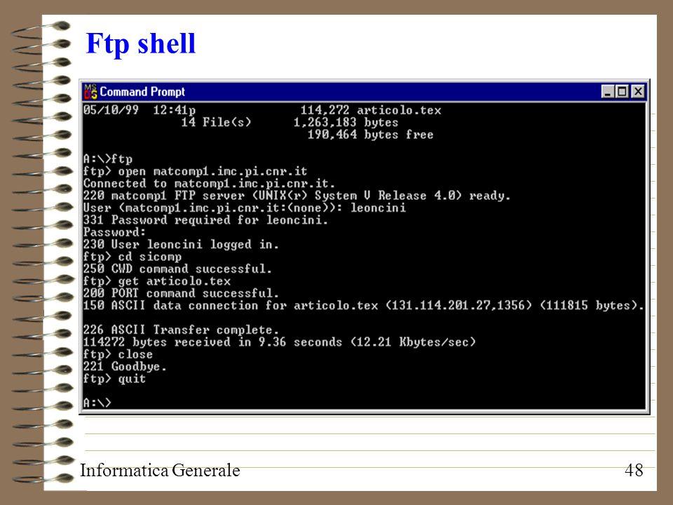 Informatica Generale48 Ftp shell