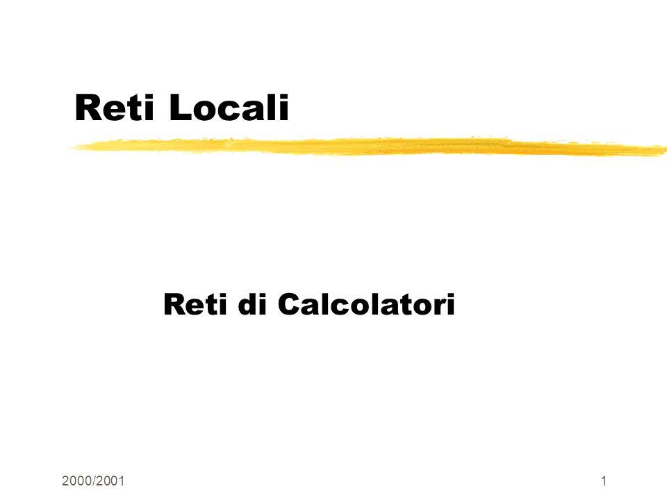 2000/20011 Reti Locali Reti di Calcolatori
